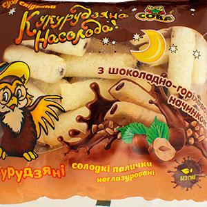 Кукурудзяні палички с шоколадом